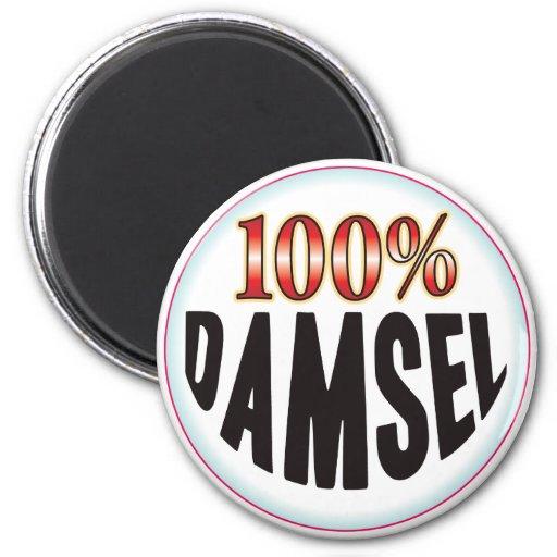 Etiqueta de la damisela imán redondo 5 cm