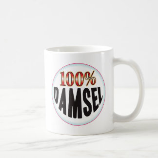 Etiqueta de la damisela tazas de café