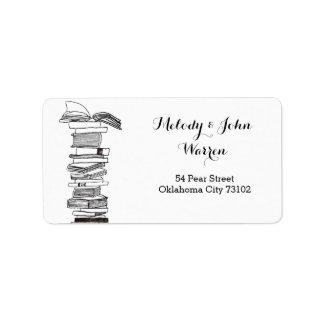 Etiqueta de la dirección comercial del Booklover Etiquetas De Dirección