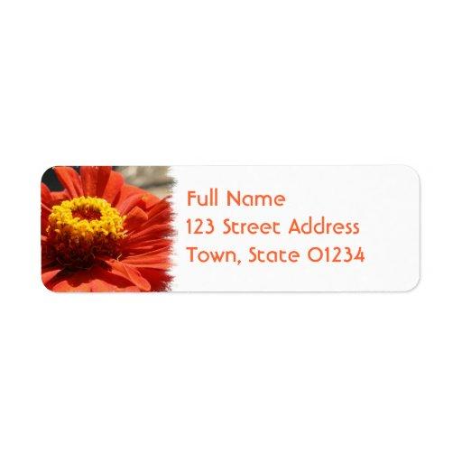 Etiqueta de la dirección del correo del flor del etiquetas de remite