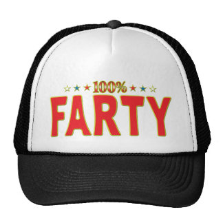 Etiqueta de la estrella de Farty Gorro De Camionero