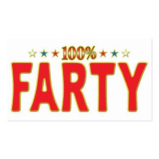 Etiqueta de la estrella de Farty Tarjeta De Negocio