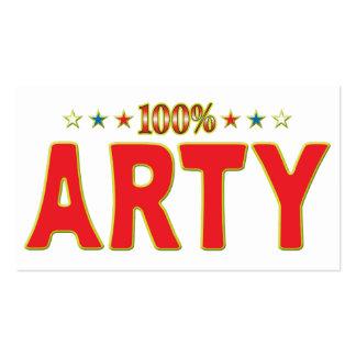 Etiqueta de la estrella de los Arty Tarjetas De Visita