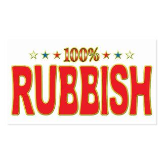 Etiqueta de la estrella de los desperdicios tarjetas de visita