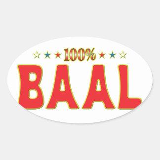 Etiqueta de la estrella del Baal