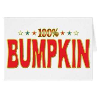 Etiqueta de la estrella del Bumpkin Tarjeta De Felicitación