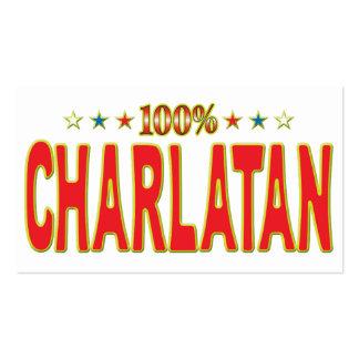 Etiqueta de la estrella del charlatán tarjetas de visita