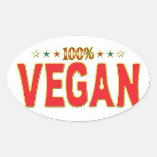 Etiqueta de la estrella del vegano