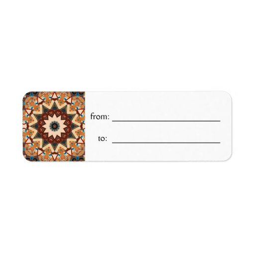 Etiqueta de la etiqueta del regalo del caleidoscop etiqueta de remite