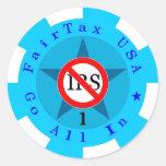 Etiqueta de la ficha de póker de FairTax los