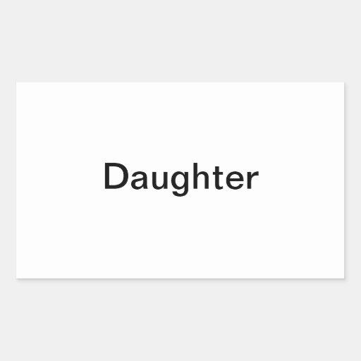 """Etiqueta de la foto de la """"hija"""""""
