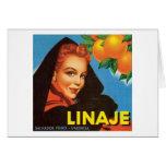 Etiqueta de la fruta del vintage de Linaje Tarjetón