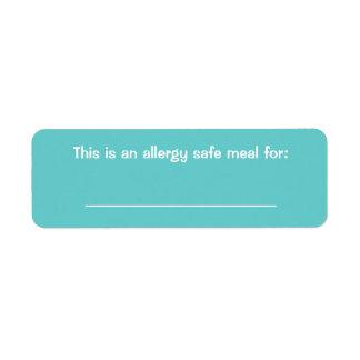 Etiqueta de la identificación de la comida etiquetas de remite