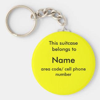 Etiqueta de la identificación de la maleta llavero redondo tipo pin