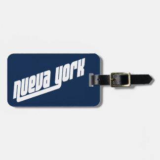 Etiqueta de la identificación del equipaje de etiquetas bolsa
