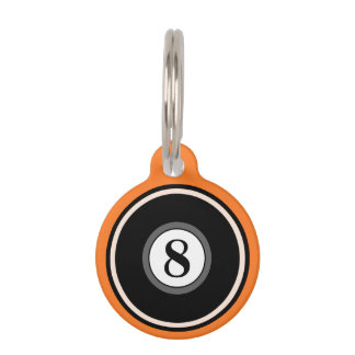 Etiqueta de la identificación del mascota - bola 8 placa de mascota