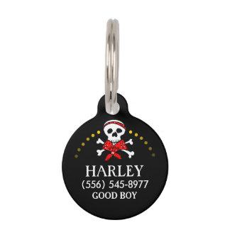 Etiqueta de la identificación del mascota - cráneo placas para mascotas