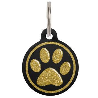 Etiqueta de la identificación del mascota - identificador para mascota
