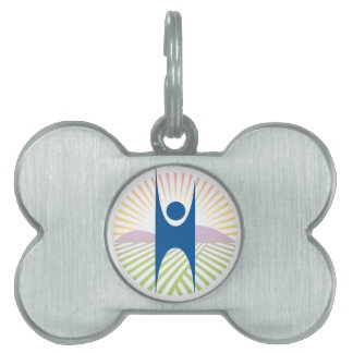 Etiqueta de la identificación del perro placas de nombre de mascota