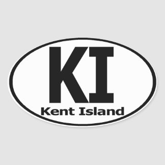 Etiqueta de la isla de Kent (fije de 4)