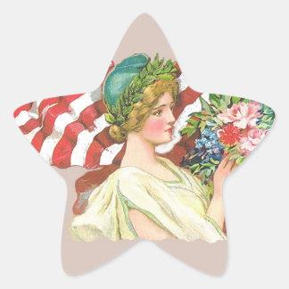 etiqueta de la libertad de la señora del vintage