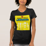 Etiqueta de la limonada de los pozos de Charles de Camiseta