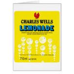 Etiqueta de la limonada de los pozos de Charles de Felicitacion
