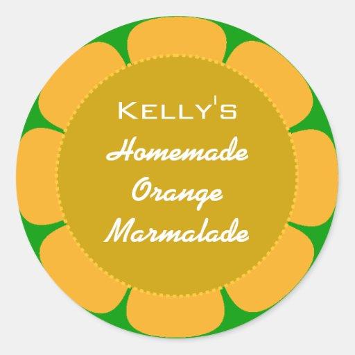 Etiqueta de la mermelada anaranjada