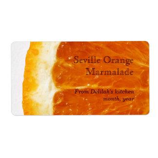 etiqueta de la mermelada anaranjada de Sevilla Etiqueta De Envío