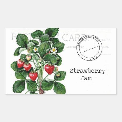 Etiqueta de la mermelada de fresa
