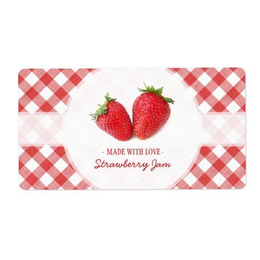 Etiqueta de la mermelada de fresa etiquetas de envío