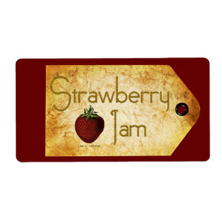 Etiqueta de la mermelada de fresa etiqueta de envío