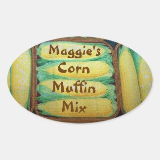 Etiqueta de la mezcla del mollete de maíz