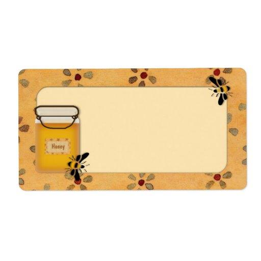 Etiqueta de la miel etiqueta de envío