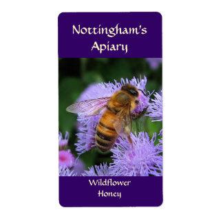 Etiqueta de la miel de la abeja etiquetas de envío