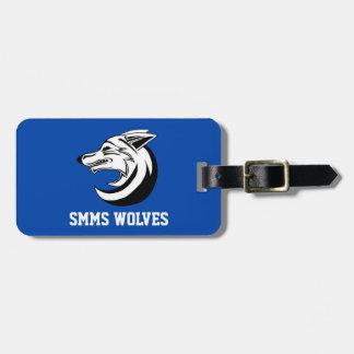 Etiqueta de la mochila/del equipaje de los lobos etiquetas maletas