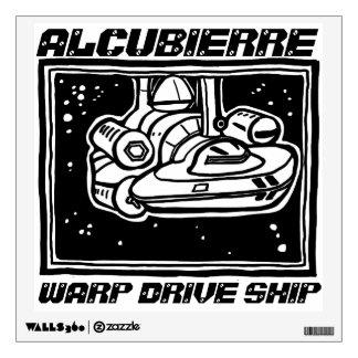 Etiqueta de la nave de Alcubierre por Vinilo Decorativo
