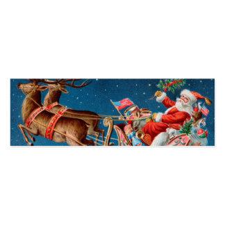 Etiqueta de la nota o del regalo del AMOR de Santa Tarjetas De Visita Mini
