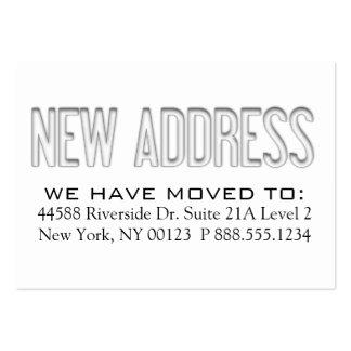 Etiqueta de la notificación del cambio de direcció tarjeta de negocio