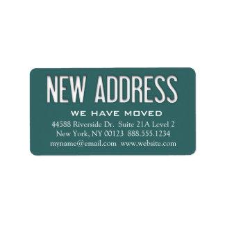"""Etiqueta de la notificación del cambio de la """"nuev etiquetas de dirección"""