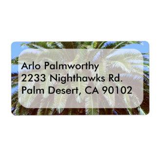 Etiqueta de la palmera etiquetas de envío