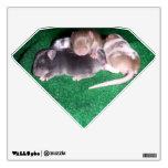 Etiqueta de la pared: 4 ratones del bebé (diamante