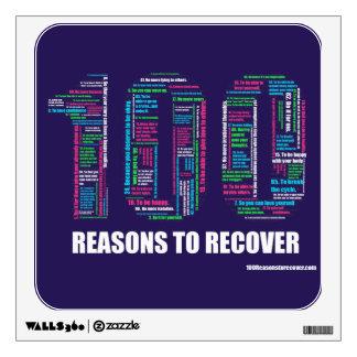 Etiqueta de la pared de 100 razones vinilo
