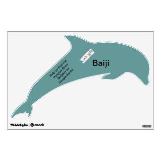 Etiqueta de la pared de Google Baiji