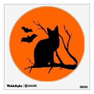 Etiqueta de la pared de Halloween de la luna de co Vinilo Decorativo