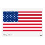 Etiqueta de la pared de la bandera americana