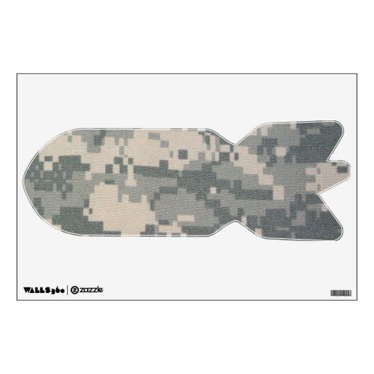 Etiqueta de la pared de la bomba del misil del ACU Vinilo Decorativo