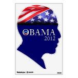 Etiqueta de la pared de la campaña de Obama 2012