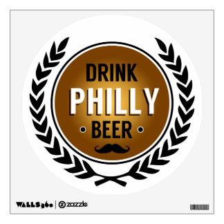 Etiqueta de la pared de la cerveza de Philly de la Vinilo Decorativo