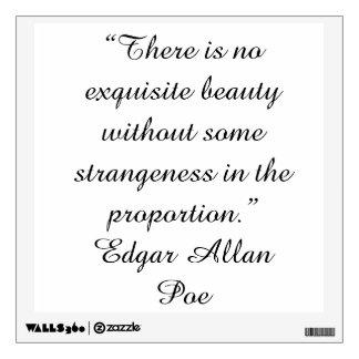 Etiqueta de la pared de la cita de Edgar Allan Poe Vinilo